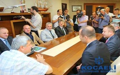 Başkan'a Kocaelispor yönetiminden ziyaret