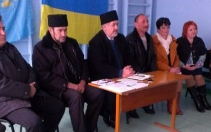 Çubarov, Geniçesk bölgesi Kırım Tatarlarıyla görüştü