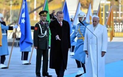 Vatikan Devlet Başkanı Papa Fransuva Cumhurbaşkanlığı Sarayı'nda