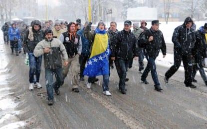 Hırvatistan Sınırına Yürüyen Eylemciler Evlerine Döndü