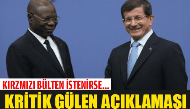 Davutoğlu'ndan Gülen açıklaması