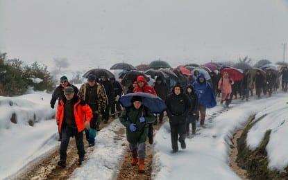 Taraklı Yaylalarında Karda Yürüyüş