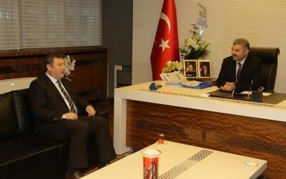 """Talas Belediye Başkanı Palancıoğlu'ndan Başkan Çelik'e Hayırlı Olsun Ziyareti """""""