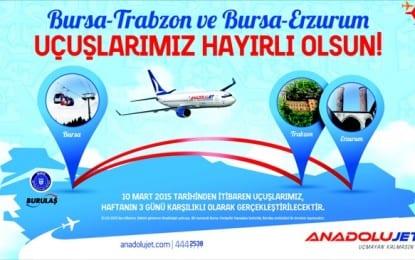 Trabzon ve Erzurum`a Direkt Uçuşlar Başlıyor