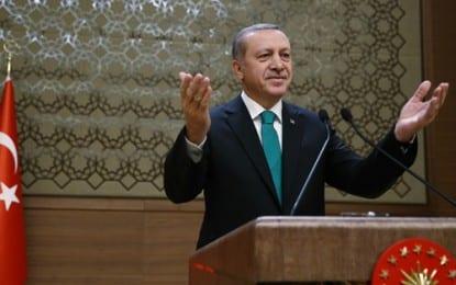 Cumhurbaşkanı Erdoğan, Cumhurbaşkanlığı Sarayı'nda Muhtarlarla Buluştu