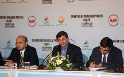 GAP Eylem Planı (2014-2018) Başbakan   Ahmet Davutoğlu Tarafından Mardin'de Açıklandı