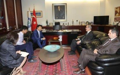 Kırgız Cumhuriyeti Ankara Büyükelçisinden Büyükerşen'e Ziyaret