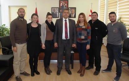 Gazimağusa Halkdansları Derneği Belediye  Başkanı İsmail Arter'i Ziyaret Etti