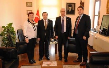 Makedonya'nın Türk temsilcileri Süleymanpaşa Belediyesi'ni Ziyaret Etti