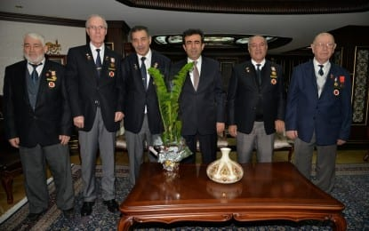 Türkiye Muharip Gaziler Derneği Kocaeli Şubesi Yönetiminden Vali'ye Ziyaret