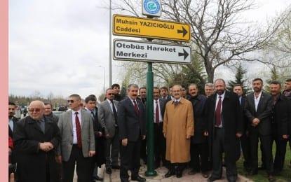 Muhsin Yazıcıoğlu Caddesi Açıldı