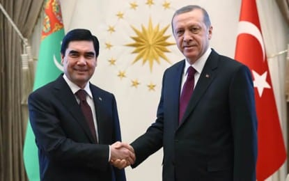 Türkmenistan Devlet Başkanı Berdimuhamedov Cumhurbaşkanlığı Sarayı'nda