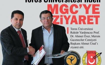 Toros Üniversitesi'nden Ahmet Ünal'a Hayırlı Olsun Ziyareti