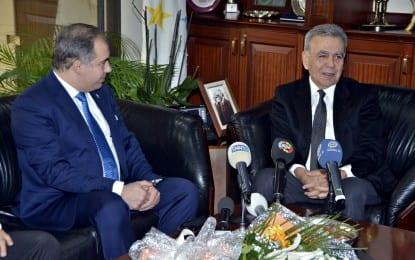 AK Parti İl Başkanı, Başkan Aziz Kocaoğlu'nu ziyaret etti