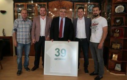 Kırklarelispor'dan Kesimoğlu'na Teşekkür Ziyareti