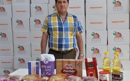 Kemer Belediyesinden 1400 Aileye Gıda Paketi