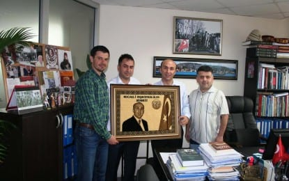 Volkan Şenel'e Kocaeli Taşköprülüler Derneğin,den  Ziyaret