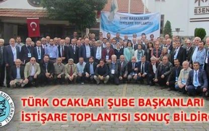 TÜRK OCAKLARI İSTİŞARE TOPLANTISI DÜZENLEDİ