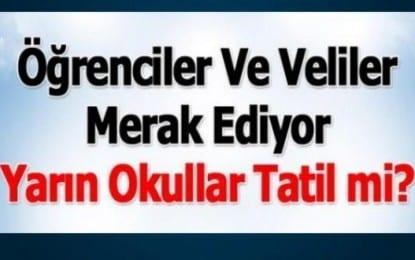 Kocaeli'de Okullar Tatil değil !!!