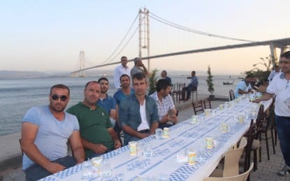 Diliskelesi Amatör Balıkçılar, Sosyal Yardımlaşma ve Çevreyi Koruma Derneği iftarda STK'lar ve muhtarları ağırladı