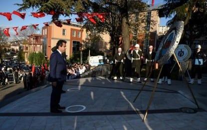 Atatürk'ü Anma Programı Güzeloğlu'nun Çelenk Sunumu ile başladı
