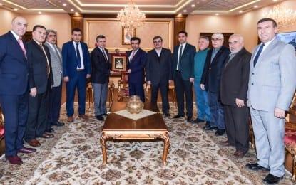 Vali Hasan Basri Güzeloğlu,  Kocaeli Anadolu Dernek Başkanı ve Mardinliler Dernek Başkanlarını kabul etti