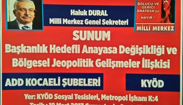 Haluk Dural Kocaeli'de Anayasa Tuzağını anlatacak