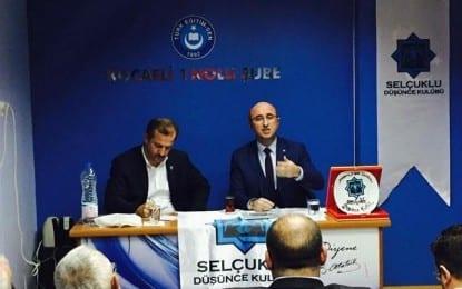 Selçuklu Düşünce Kulübü, Nisan ayı toplantısında Adalet ve Kalkınma Partisi Kocaeli İl Başkanı Şemsettin Ceyhan'ı konuk etti