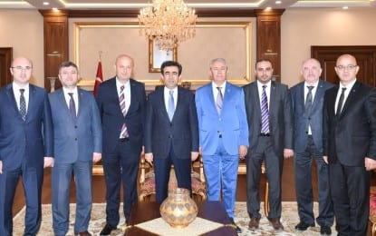 İl Başkanları Mustafa Nazlıgül'ün ev sahipliğinde toplandı