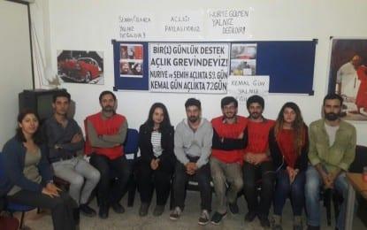 Nuriye Gülmen, Semih Özakçak, Kemal Gün'e Kocaeli'den Destek