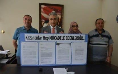 Türk Sağlık Sen Şube Başkanı Çeker; Mücadele Ettik Kazandık!!!