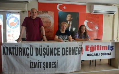 Atatürkçü Düşünce Derneği ve Eğitim İŞ Kocaeli Şubesi: Sivas katliamında yaşamını yitiren aydınlarımızı, sanatçılarımızı unutmadık, unutturmayacağız