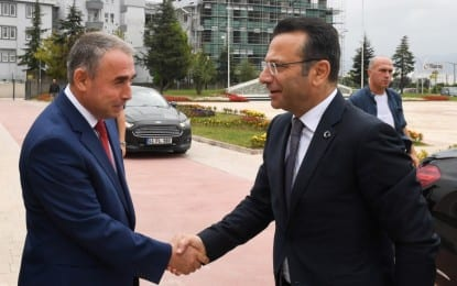 Vali Aksoy'dan Körfez Kaymakam'ı Can'a İade-i Ziyaret