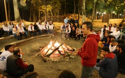 Gebze Teknik Üniversitesi Rektörü öğrencileri ile kamp yaptı