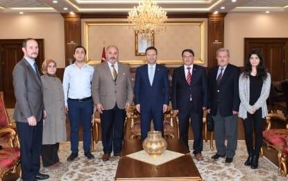 Kocaeli Türk Ocakları Yönetimi Vali Aksoy'u Ziyaret etti