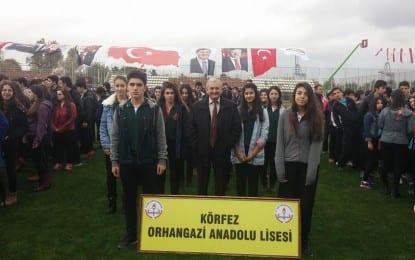 Körfez Orhangazi Anadolu Lisesi Müdürlüğü 29 Ekim Cumhuriyet Bayramının coşku içinde kutlanması için hazırlıklarını yapıyor