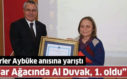 Şehit Öğretmen Şenay Aybüke Yalçın Anısına Düzenlenen Şiir Yarışması'nda Birinci İlimizden