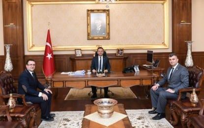 KOCAELİ BARO BAŞKANI SERTİF GÖKÇE'DEN VALİ HÜSEYİN AKSOY'A ZİYARET