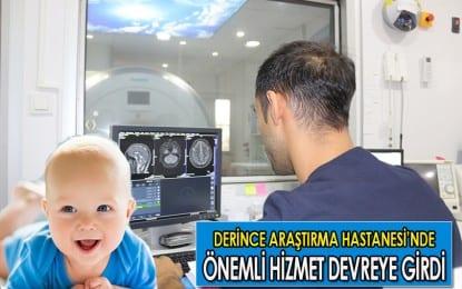 Kocaeli'nde Çocuk MR görüntülemede yaşanan büyük bir sıkıntıyı da yine Derince Eğitim ve Araştırma Hastanesi çözdü