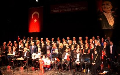 """Kültür ve Turizm Müdürlüğü Türk Müziği Korosunun """"Atatürk'ü Anma""""  konseri gerçekleşti"""