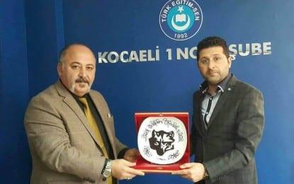 Türk Ocakları Kocaeli Şube Başkanı Demir'den Türk Eğitim Sen'e Ziyaret