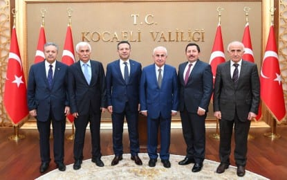 Meslektaşlarından Vali Aksoy'a Hayırlı Olsun Ziyareti