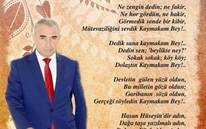 Körfezli Gazeteci Mustafa Eranıl Körfez Kaymakamına Şiir Yazdı
