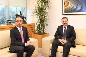 Vali Aksoy Tüpraş Genel Müdürü İbrahim Yelmenoğlu'na İade-i Ziyaret'te Bulundu