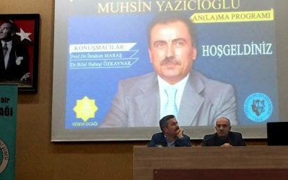 Yesevi Ocağı Şehit Lider Muhsin Yazıcıoğlu An(la)ma Programı düzenledi