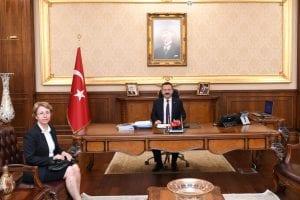 Kocaeli 1. İdare Mahkemesi Başkanı Sevda Kösedağı, Vali Aksoy'a Nezaket Ziyaretinde Bulundu