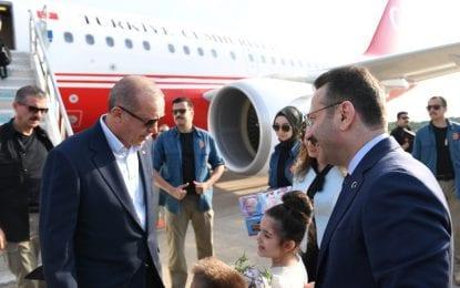 Cumhurbaşkanı Erdoğan, Kocaeli Valisi Aksoy Tarafından Karşılandı