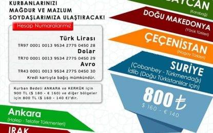 Türk Ocaklarından kurban bağışına davet
