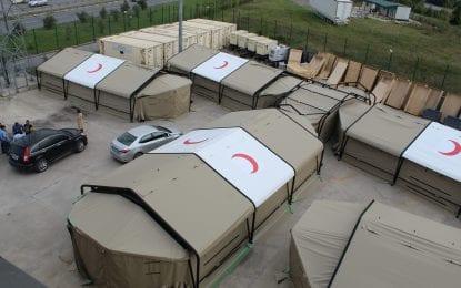 Kocaeli'de Sahra Çadırları Acil Durumlara Hazır