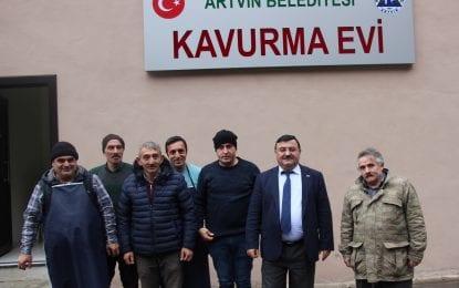 Artvin Belediyesi Kavurma Evi'nde ilk kavurma pişti